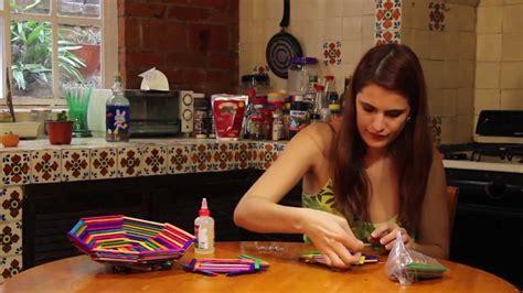 Canastas De Palitos Madera De Colores   canasta con palitos de colores youtube