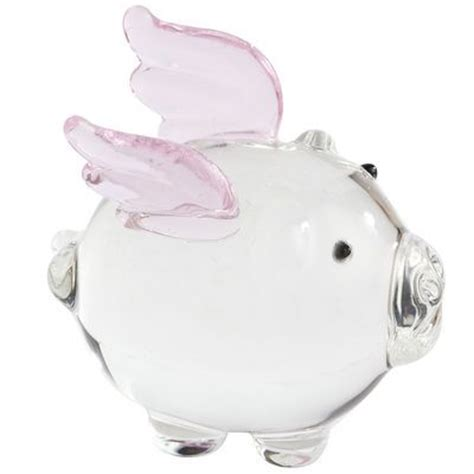 when pigs fly glass figurine my favorite things