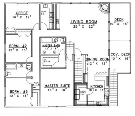 apartment garage floor plans house plan 039 00381 2 500 square feet 3 bedrooms 3