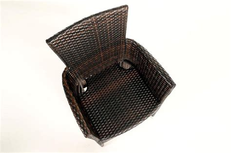 rattan stuhl stuhl garten tisch rattan tischset mixed braun