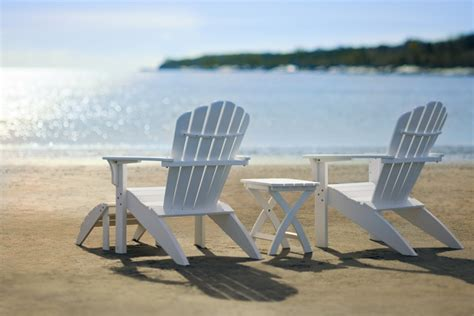Black Wicker Patio Chairs Coastline Adirondack Composite Chairs By Seaside Casual