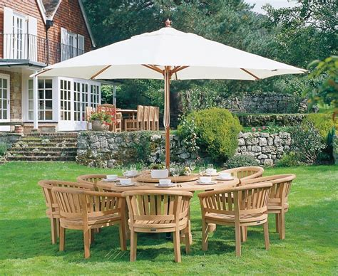 Wooden Patio Dining Set Titan Garden 8 Seater Teak Wooden Patio Dining Set