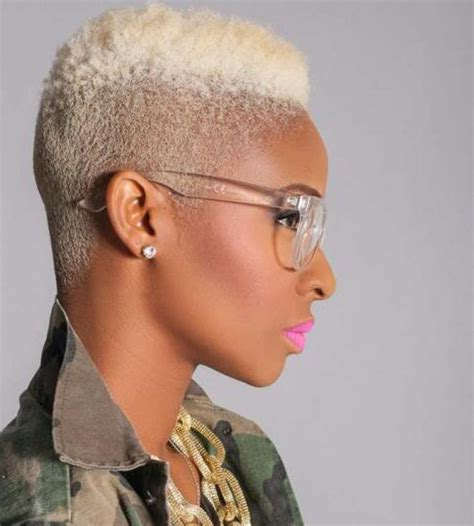 african american women hairstyle thats shaved on both side blonde african american short hairstyles hair