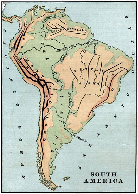 map of guiana south america south america