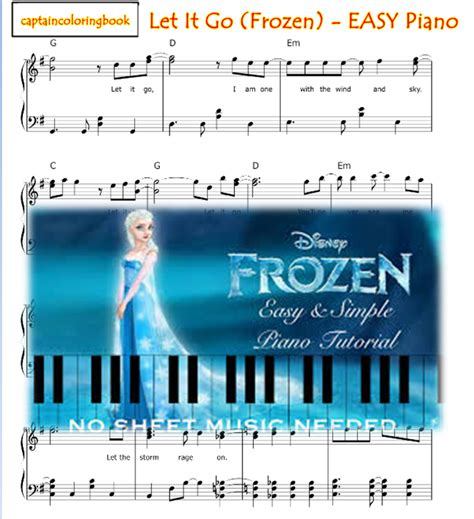 tutorial keyboard let it go let it go frozen easy piano tutorial and note