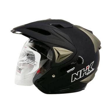 Helm Nhk Half Nhk Crypton Nhk Visor jual nhk godzilla helm half solid black doff harga kualitas terjamin blibli
