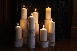 fireplace candles birch pillar candle holders fireplace decor by birchhousemarket