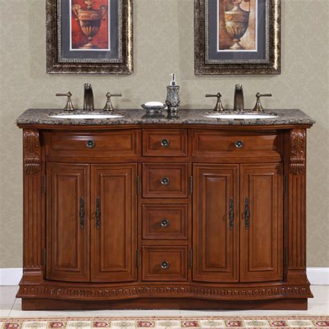 50 inch double sink bathroom vanity silkroad exclusive monica 56 quot double bathroom vanity set
