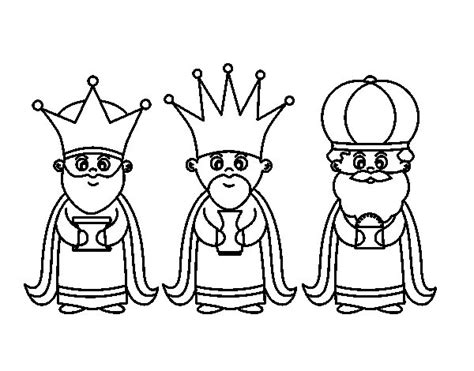 imagenes de los reyes magos infantiles dibujo de los 3 reyes magos para colorear dibujos net