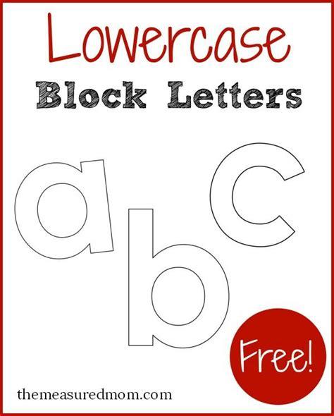 lowercase block letters measured mom letter