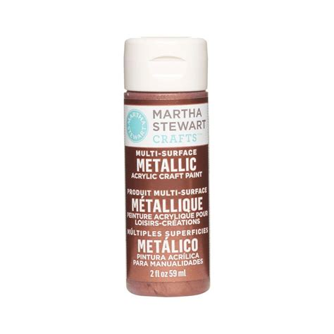 martha stewart crafts 2 oz rust multi surface metallic acrylic craft paint 32110 the home depot