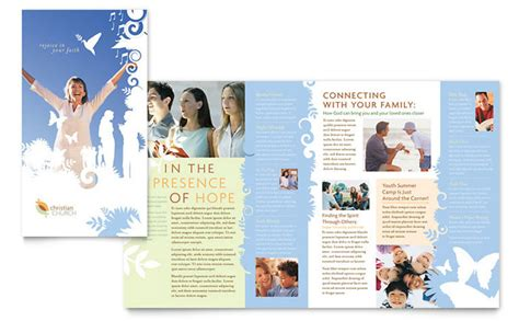 Christian Church Brochure Template Design Church Brochure Templates