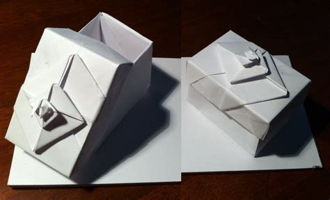Origami Spiral Box - 187 spiral box setting the crease