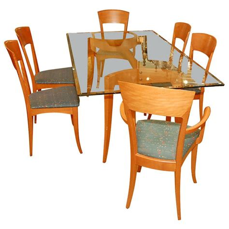 modern italian dining table italian dining table with six chairs by a sibau