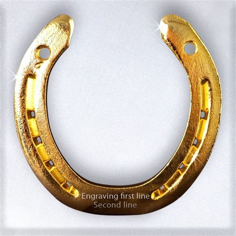 What Is A Good Housewarming Gift by 24 Carat Happiness Gold Lucky Horseshoe White Cushion