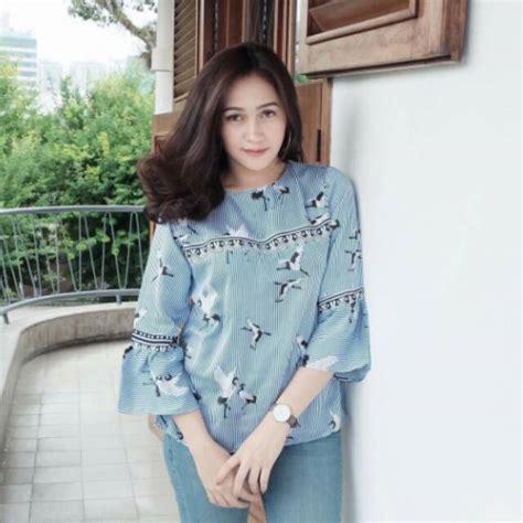 Atasan Wanita Import Murah baju falm blouse atasan wanita import murah realpict