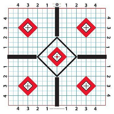 printable targets for sighting in a rifle 100 yard rifle paper target great for sighting in scope