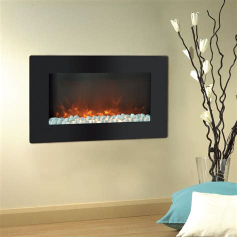 electric in wall fireplace cambridge callisto 30 in wall mount electric fireplace in black cam30wmef 1blk the home depot