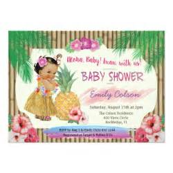 luau hawaiian baby shower invitation zazzle