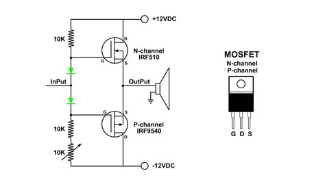transistor driver lifier mosfet push pull lifier visual demo