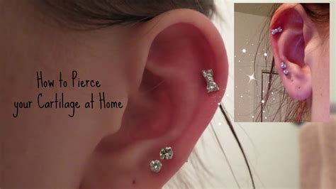how i pierced my cartilage at home safely alyssa
