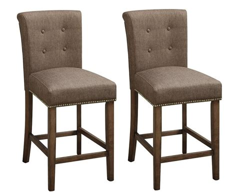 24 Dining Chairs 2 Pc Dining High Counter Height Side Chair Bar Stool 24 Quot H Blended Linen Slate Ebay