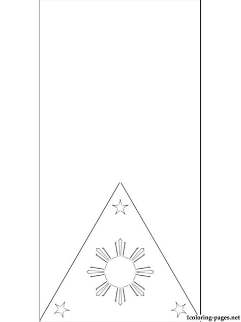 Free Coloring Pages Of Flag Philippines Philippines Flag Coloring Page