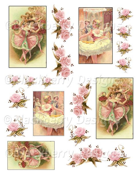 Decoupage Sheets - decoupage paper original tissue ballernia collage sheet