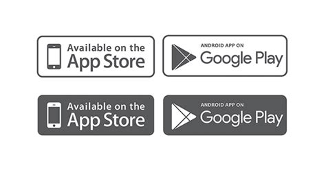 Play Store And App Store Icons Free Icons Appstore And Play 2015 On Behance