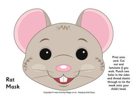 free printable mouse mask template rat mask printable
