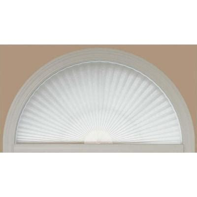 Fan Shaped Blinds Redi Shade White Fabric Arch Window Shade 72 In W X 36