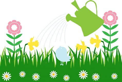Flower Garden Clipart Flowers Garden Watering Can Free Stock Photo Domain Pictures