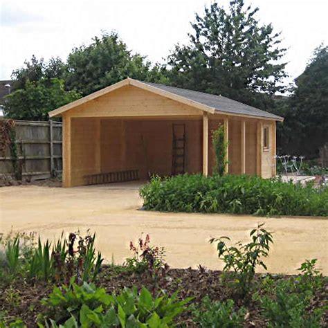 carport plus log cabin carport plus storage shed 7 7m x 4 3m
