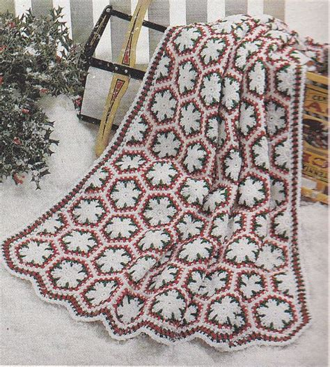 crochet pattern snowflake afghan snowflake afghan crochet patterns 3 designs christmas