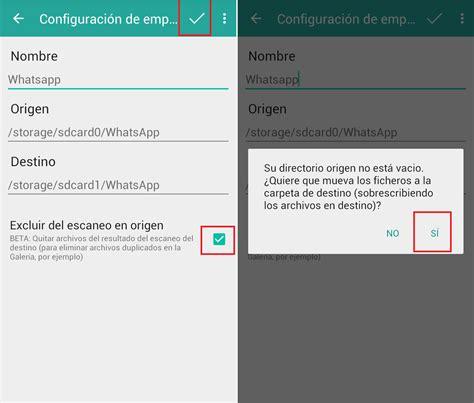 guardar imagenes whatsapp tarjeta sd c 243 mo guardar fotos y v 237 deos de whatsapp en la memoria sd