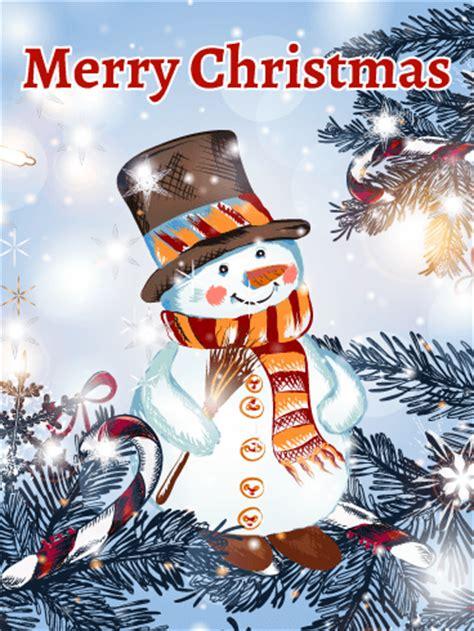 classic shinning snowman christmas card birthday greeting cards  davia