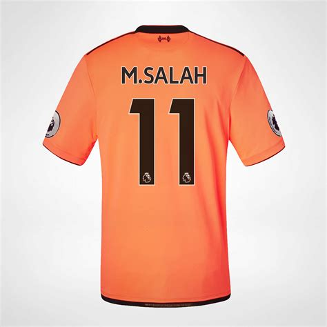 M Salah Liverpool 2017 2018 Home Away Third Style Nameset liverpool tredjedrakt 2017 18 m salah 11 hos kopshop no
