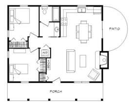 2 bedroom log cabin floor plans