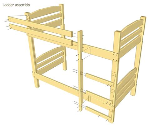 Bunk Bed Plans Except Will Use 4x4 Post Crafts Easy Bunk Bed Plans