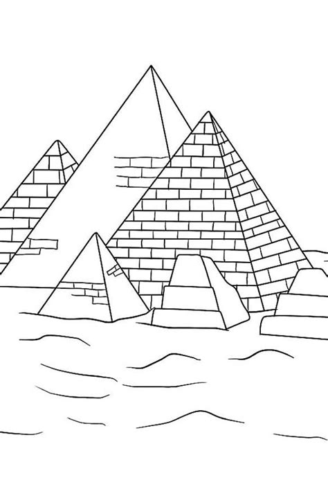 pyramid coloring page coloring pages ideas