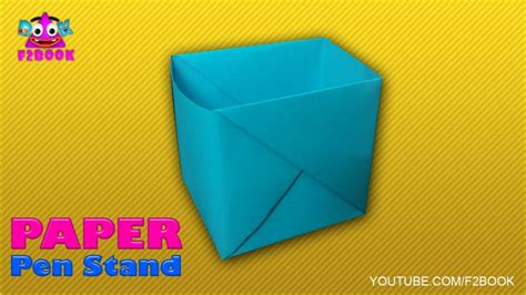 Origami Pen Stand - free coloring pages how to make pen stand origami