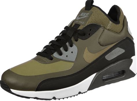 nike air max  ultra mid shoes olive green black