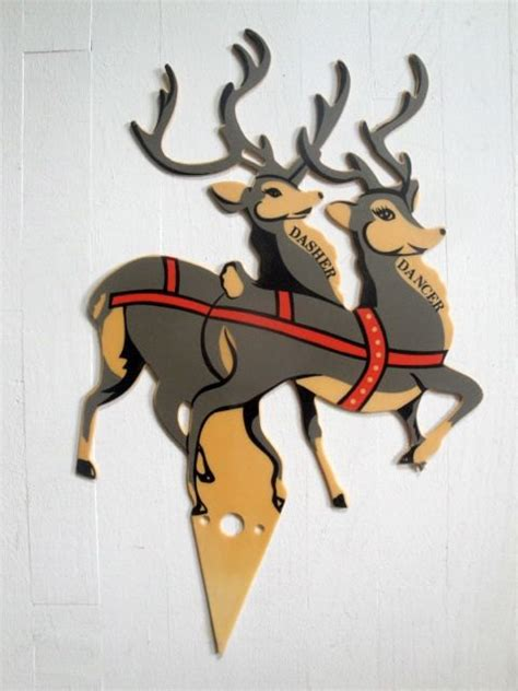 vintage reindeer plastic lawn decoration by