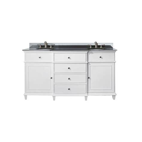 60 Sink Vanity With Granite Top by Avanity 60 Inch W Sink Vanity In White