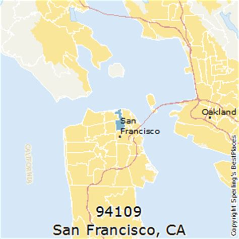 san francisco map by zip code best places to live in san francisco zip 94109 california