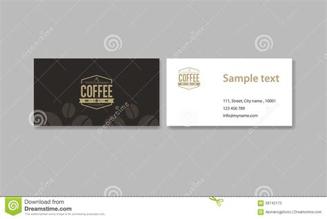 coffee shop card design business card for coffee shop and restaurant and coffee