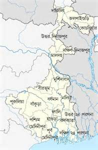 where is west on a map file west bengal district map png