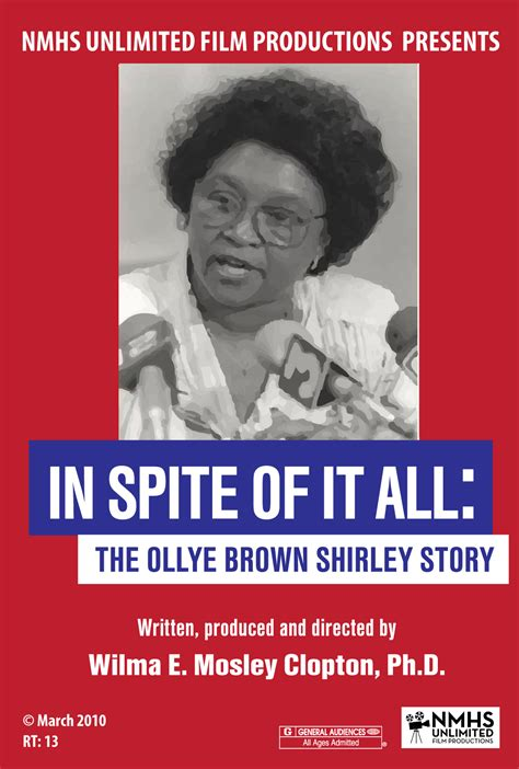 shirley story in spite of it all the ollye brown shirley story dvd
