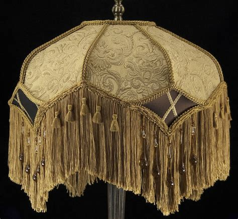 victorian l shade with fringe victorian antique gold embossed lampshade with beautiful