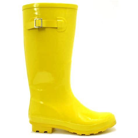 yellow boots womens yellow fluorescent wellies wellingtons flat boots